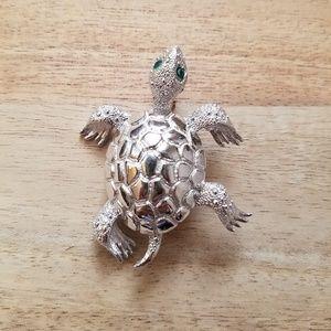 Vintage Adorable Monet Turtle Brooch